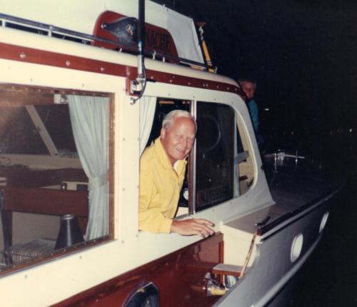 Stu Sherk aboard Panache